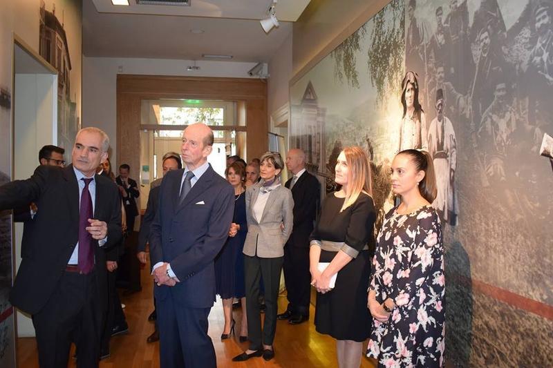 Ο Δούκας του Κεντ Εδουάρδος στο Μουσείο Μακεδονικού Αγώνα